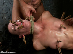Elise Graves finds herself locked in a - Unique Bondage - Pic 11