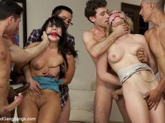Two hot girls get taken down, zip tied, ball - Unique Bondage - Pic 6