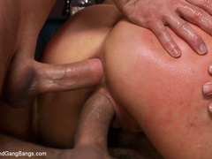 Princess Donna in extreme 8 guy Gangbang! - Unique Bondage - Pic 8