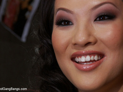 Asa Akira in extreme 5 guy gangbang! Fucked - Unique Bondage - Pic 1