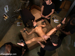 Asa Akira in extreme 5 guy gangbang! Fucked - Unique Bondage - Pic 3