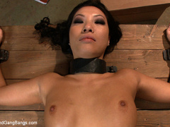 Asa Akira in extreme 5 guy gangbang! Fucked - Unique Bondage - Pic 8