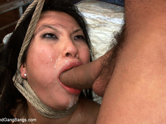 Asa Akira in extreme 5 guy gangbang! Fucked - Unique Bondage - Pic 12