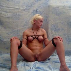 Cute amateur submissives get tied up and - Unique Bondage - Pic 14