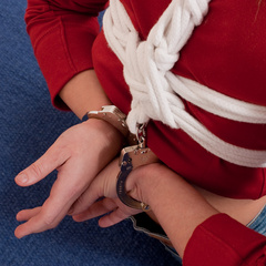 Katarina handcuffed and dogy-bone gagged - Unique Bondage - Pic 2