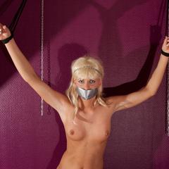 Katarina tied spread eagle standing - Unique Bondage - Pic 9