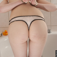 Marie cuffed and gagged in the bathroom - Unique Bondage - Pic 5
