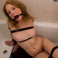 Paula tied up and gagged in the bathroom - Unique Bondage - Pic 10