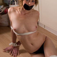 Paula tied up and gagged in the kitchen - B - Unique Bondage - Pic 6