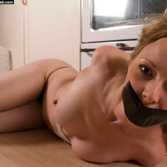 Paula tied up and gagged in the kitchen - B - Unique Bondage - Pic 10
