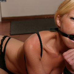 Paula tied up and ring-gagged - B - Unique Bondage - Pic 5