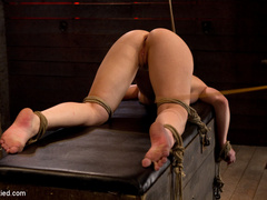 Girl next door bound ass up.  Double - Unique Bondage - Pic 7