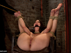 Tiny 5'0 100lb girl with mouth spread open - Unique Bondage - Pic 6
