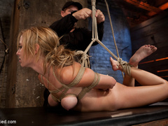 Bratty 19yr old, bound on her knees and made - Unique Bondage - Pic 5