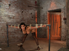 Isis Love gets bound, gagged, flogged, and - Unique Bondage - Pic 3
