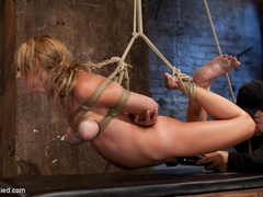 Bratty 19yr old, bound on her knees and made - Unique Bondage - Pic 8