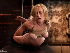 Bratty 19yr old, bound on her knees and made - Unique Bondage - Pic 9