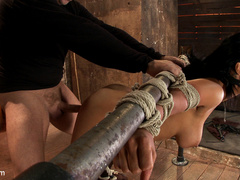 Isis Love gets bound, gagged, flogged, and - Unique Bondage - Pic 8