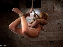 Bratty 19yr old, bound on her knees and made - Unique Bondage - Pic 11