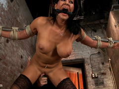 Isis Love gets bound, gagged, flogged, and - Unique Bondage - Pic 9