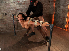 Isis Love gets bound, gagged, flogged, and - Unique Bondage - Pic 10