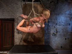 Bratty 19yr old, bound on her knees and made - Unique Bondage - Pic 13