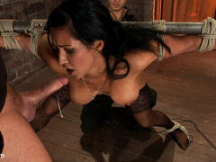 Isis Love gets bound, gagged, flogged, and - Unique Bondage - Pic 11