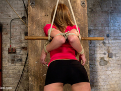 The sexy Amy Brooke .  Elbows bound, pulled - Unique Bondage - Pic 14