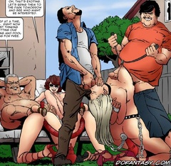 Bdsm comics. That's excitting. Let's brimg them to the park tomorrow and see who might be interested.