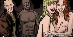 Bdsm cartoons. The longest journey hosts and their beautiful naked slaves with big tits!