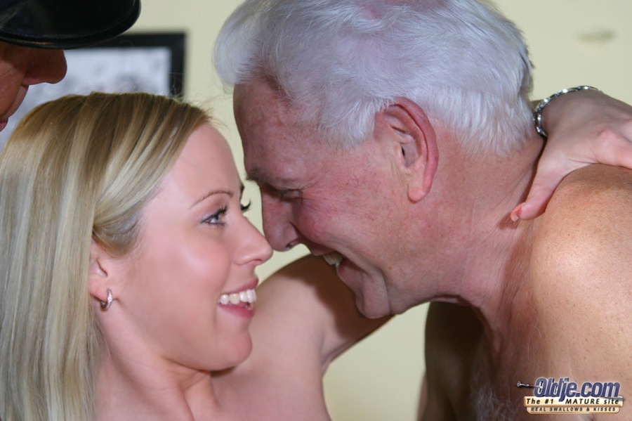 Old man creampie