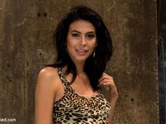 Beautiful Latina girl is orgasmed to sub - Unique Bondage - Pic 1