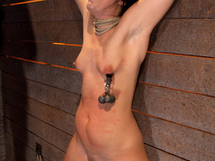 Wrist suspension while impaled. Each orgasms - Unique Bondage - Pic 5