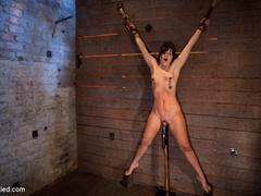 Wrist suspension while impaled. Each orgasms - Unique Bondage - Pic 7