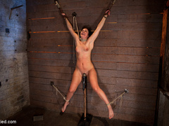 Wrist suspension while impaled. Each orgasms - Unique Bondage - Pic 9