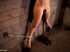 Wrist suspension while impaled. Each orgasms - Unique Bondage - Pic 12