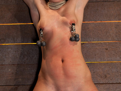 Wrist suspension while impaled. Each orgasms - Unique Bondage - Pic 13