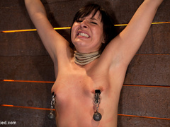 Wrist suspension while impaled. Each orgasms - Unique Bondage - Pic 14