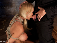 Beautiful blond Bombshell w/massive tits, is - Unique Bondage - Pic 5