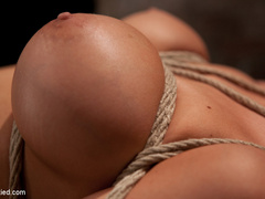 Beautiful blond Bombshell w/massive tits, is - Unique Bondage - Pic 6