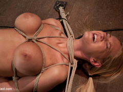 Beautiful blond Bombshell w/massive tits, is - Unique Bondage - Pic 10