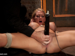 Beautiful blond Bombshell w/massive tits, is - Unique Bondage - Pic 12