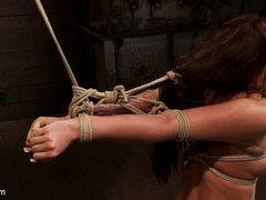 20 yr old suffers tight bondage, flogging, - Unique Bondage - Pic 1