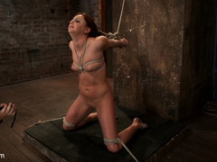 20 yr old suffers tight bondage, flogging, - Unique Bondage - Pic 3