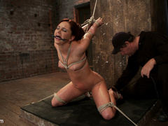 20 yr old suffers tight bondage, flogging, - Unique Bondage - Pic 7