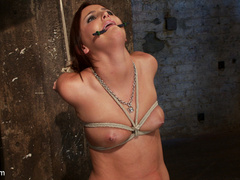 20 yr old suffers tight bondage, flogging, - Unique Bondage - Pic 9