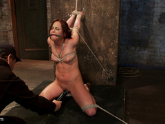 20 yr old suffers tight bondage, flogging, - Unique Bondage - Pic 11