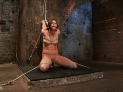20 yr old suffers tight bondage, flogging, - Unique Bondage - Pic 12