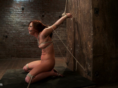 20 yr old suffers tight bondage, flogging, - Unique Bondage - Pic 14