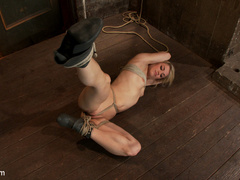 Hot 22yr old blond finally get bound right! - Unique Bondage - Pic 1